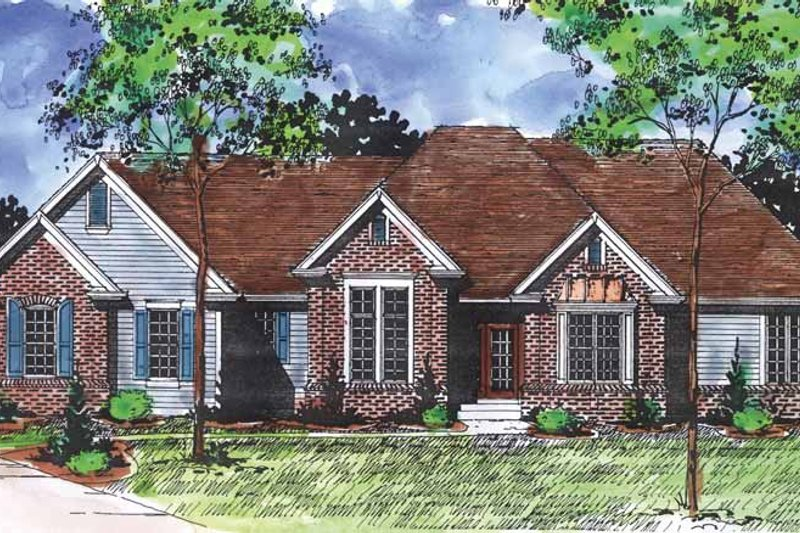 Ranch Exterior - Front Elevation Plan #320-867
