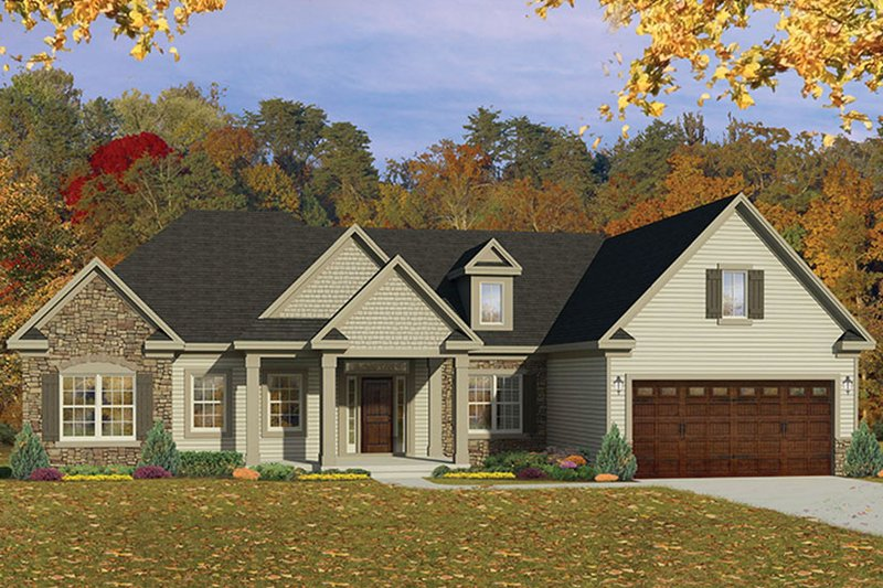 Architectural House Design - Ranch Exterior - Front Elevation Plan #1010-151