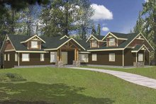 Architectural House Design - Ranch Exterior - Front Elevation Plan #117-811