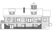 Colonial Exterior - Rear Elevation Plan #117-845