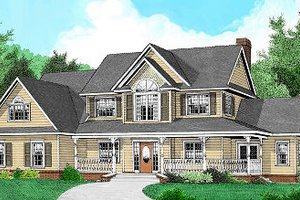 Architectural House Design - Country Exterior - Front Elevation Plan #11-226