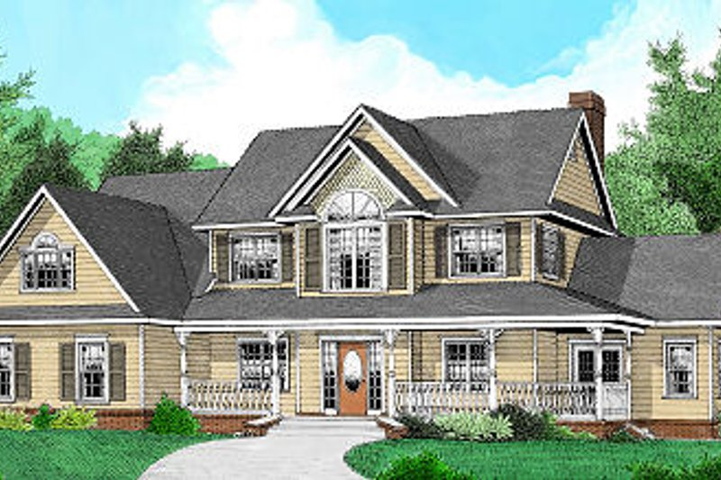 Country Exterior - Front Elevation Plan #11-226 - Houseplans.com