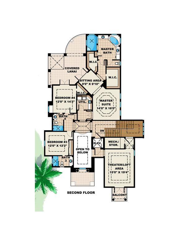Beach Floor Plan - Upper Floor Plan Plan #27-527