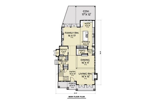 Dream House Plan - Farmhouse Floor Plan - Main Floor Plan #1070-112