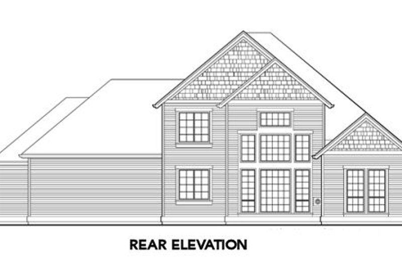 Traditional Exterior - Rear Elevation Plan #48-326 - Houseplans.com