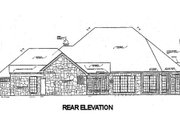 European Style House Plan - 4 Beds 2.5 Baths 2570 Sq/Ft Plan #310-629 Exterior - Rear Elevation