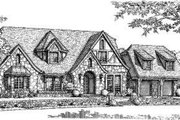 European Style House Plan - 4 Beds 3.5 Baths 2986 Sq/Ft Plan #310-189 Exterior - Front Elevation