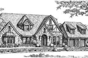European Exterior - Front Elevation Plan #310-189