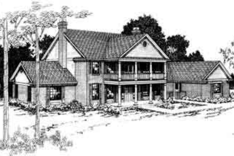 Colonial Exterior - Front Elevation Plan #124-122