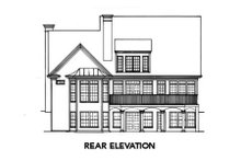 House Plan Design - Colonial Exterior - Rear Elevation Plan #429-15