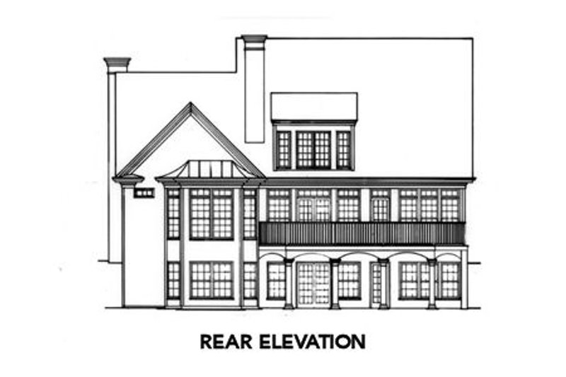 Colonial Exterior - Rear Elevation Plan #429-15 - Houseplans.com