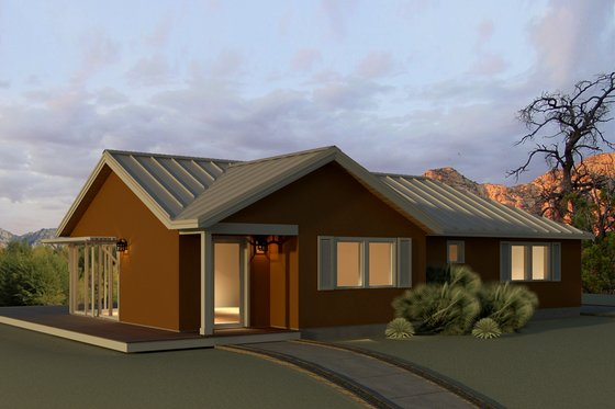Ranch Exterior - Front Elevation Plan #497-12