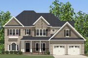 Traditional Style House Plan - 5 Beds 3.5 Baths 3572 Sq/Ft Plan #898-7 Exterior - Front Elevation
