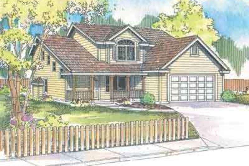 Dream House Plan - Farmhouse Exterior - Front Elevation Plan #124-475