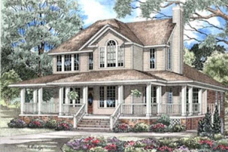 Dream House Plan - Country Exterior - Front Elevation Plan #17-242