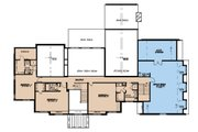 European Style House Plan - 5 Beds 5.5 Baths 5813 Sq/Ft Plan #923-185 Floor Plan - Upper Floor