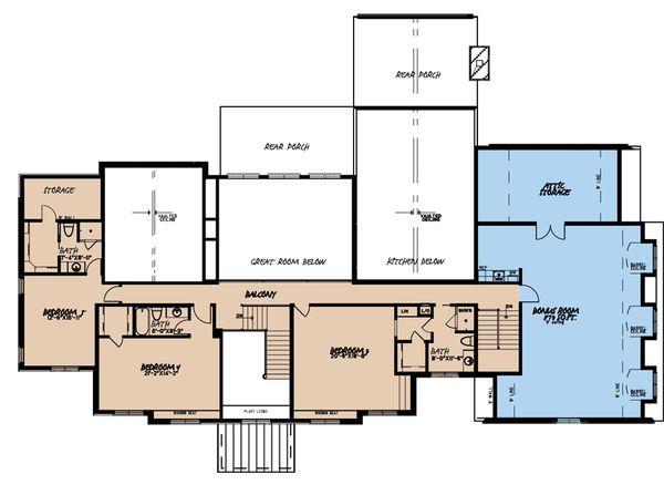 House Plan Design - European Floor Plan - Upper Floor Plan #923-185