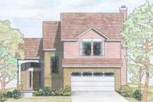Dream House Plan - Traditional Exterior - Front Elevation Plan #80-110