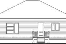Contemporary Exterior - Rear Elevation Plan #23-2714