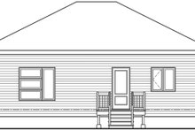 Architectural House Design - Contemporary Exterior - Rear Elevation Plan #23-2714