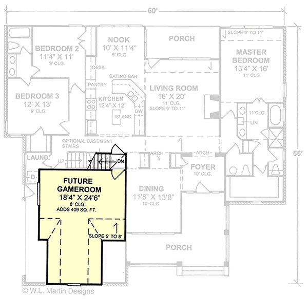Farmhouse Floor Plan - Upper Floor Plan Plan #20-119
