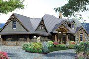 Country Style House Plan - 3 Beds 2.5 Baths 2106 Sq/Ft Plan #120-243 Exterior - Front Elevation