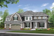 Craftsman Exterior - Front Elevation Plan #132-301