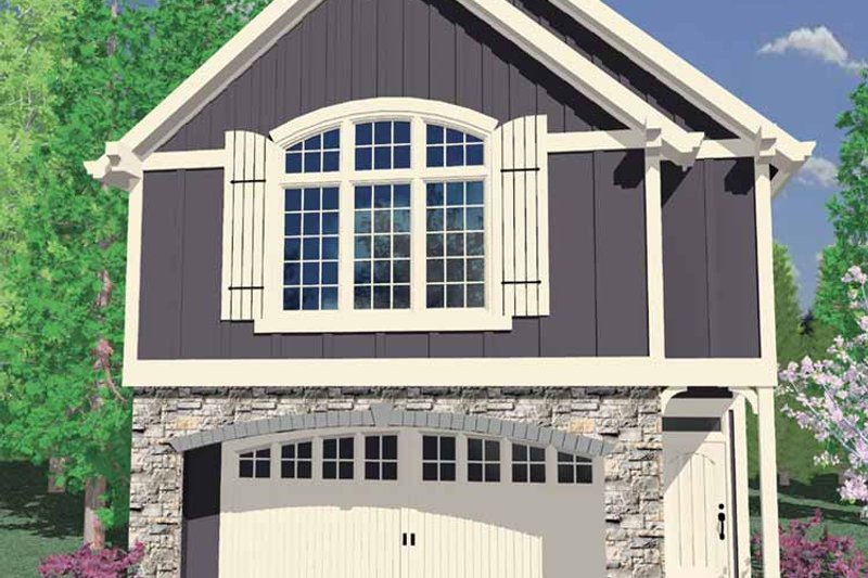 Craftsman Exterior - Front Elevation Plan #509-189