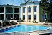 European Style House Plan - 5 Beds 4 Baths 6820 Sq/Ft Plan #453-356 Exterior - Rear Elevation