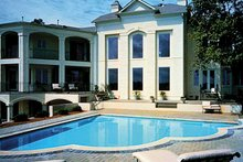 House Plan Design - European Exterior - Rear Elevation Plan #453-356
