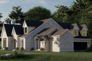 European Style House Plan - 4 Beds 3.5 Baths 3601 Sq/Ft Plan #923-186 Exterior - Other Elevation