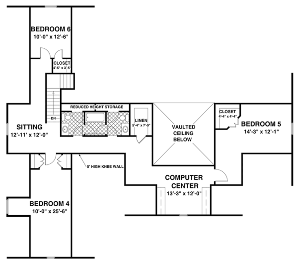Ranch Floor Plan - Other Floor Plan Plan #56-696