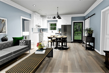 House Design - Farmhouse Interior - Family Room Plan #44-224