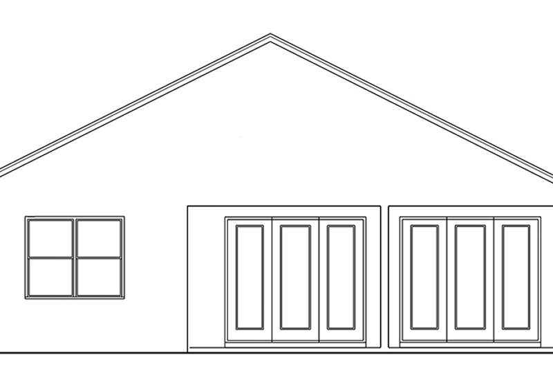 Ranch Exterior - Rear Elevation Plan #1058-106 - Houseplans.com