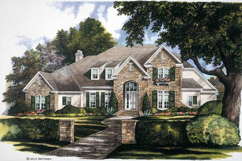 Country Exterior - Front Elevation Plan #952-244