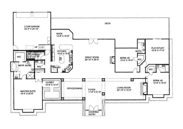 Ranch Floor Plan - Main Floor Plan Plan #117-866