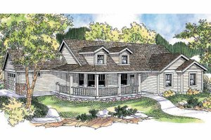 Farmhouse Exterior - Front Elevation Plan #124-686
