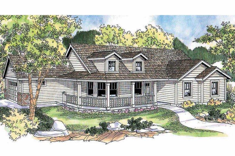 Dream House Plan - Farmhouse Exterior - Front Elevation Plan #124-686