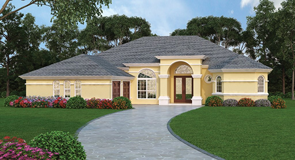 Mediterranean Style House Plan  Ft