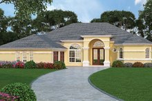 Home Plan - Mediterranean Exterior - Front Elevation Plan #417-810