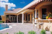 House Plan Design - Mediterranean Exterior - Rear Elevation Plan #417-566