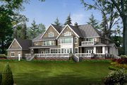 Craftsman Style House Plan - 4 Beds 6 Baths 7425 Sq/Ft Plan #132-185 Exterior - Rear Elevation