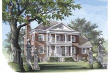 Classical Exterior - Front Elevation Plan #137-308