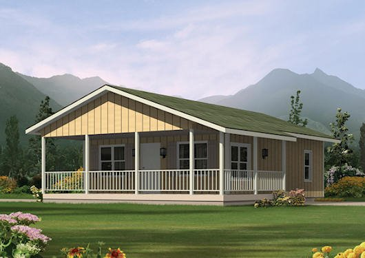 Ranch Exterior - Front Elevation Plan #57-239