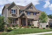 Craftsman Style House Plan - 4 Beds 3.5 Baths 3718 Sq/Ft Plan #320-493 Exterior - Front Elevation