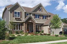 Dream House Plan - Craftsman Exterior - Front Elevation Plan #320-493