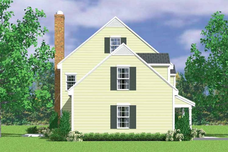 Colonial Exterior - Other Elevation Plan #72-1106 - Houseplans.com