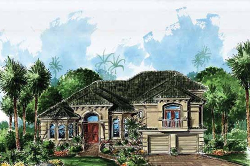 Mediterranean Exterior - Front Elevation Plan #1017-126