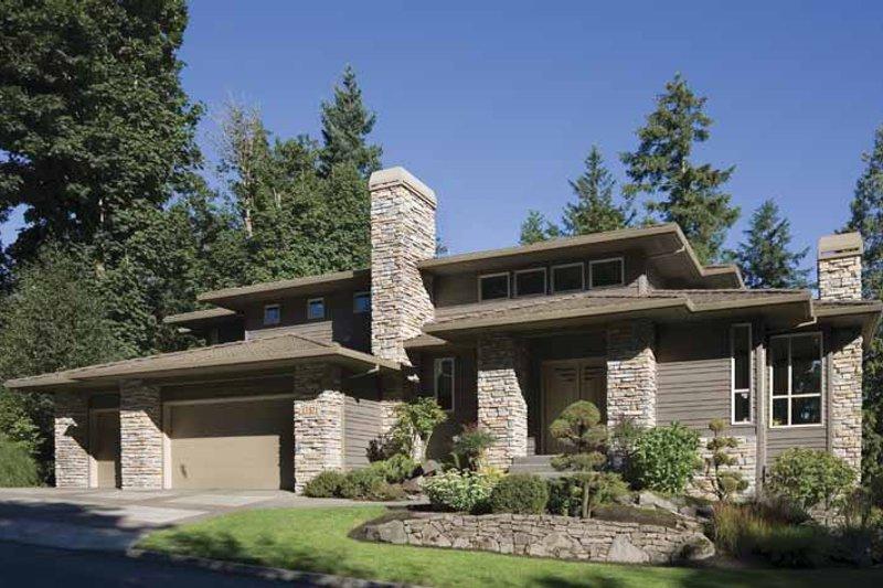Prairie Exterior - Front Elevation Plan #48-747 - Houseplans.com