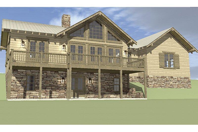 Cabin Exterior - Rear Elevation Plan #64-263 - Houseplans.com